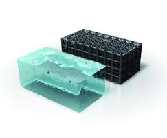 High water storage capacity geocells (95% void ratio)
