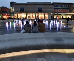 Benches with LED lighting attract visitors after dark