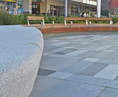 Bespoke outdoor curved benches for town square