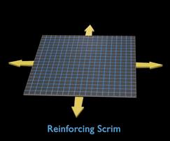 Reinforcing scrim