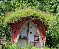 Meadowmat adorning a roof at Hampton Court Flower Show