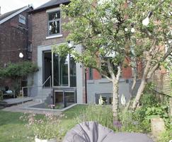 The garden becomes an outdoor communal area