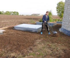 Preparing the roof for turfing
