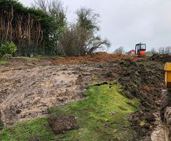 Ground preparation for new lawn