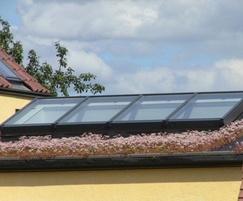 Enviromat sedum matting on pitched roof