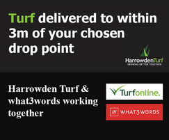 """Harrowden Turf: Precision turf delivery with """"what3words"""""""