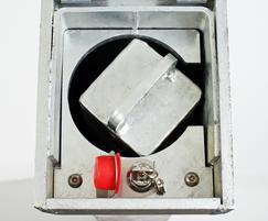 RetractaPost-GL 745 galvanised square bollard