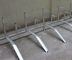 Type B cycle racks