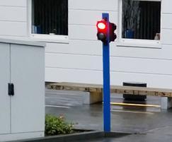 Automatic rising bollard, Kings College Hospital