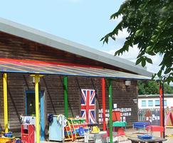 Bespoke playground canopy, Lansdowne Primary Academy