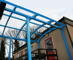 Bespoke covered walkway for Quarry Hill Primary School
