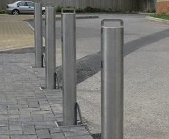 Stainless steel retractable posts