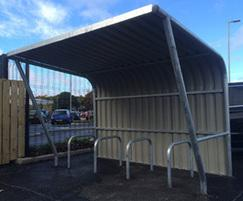 The VELOPA cantilever cycle shelter