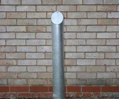 Mitre-top galvanised steel bollard
