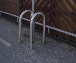 Stainless steel lamp post protector
