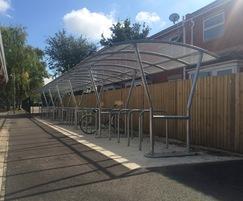Cycle parking, Kirton Primary School