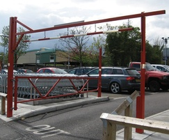 Swing Height Restrictor with lower swing gate