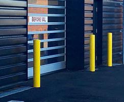 Bollards protect car dealership