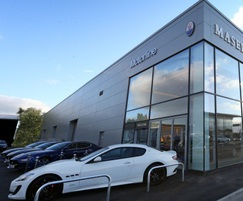 Car showroom protected by hooped barriers from AUTOPA
