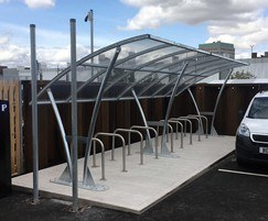 Cycle shelter and stands for market place