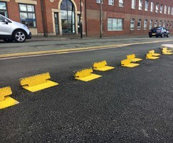One-way traffic control flow plates