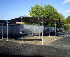 AX4 cycle shelter for 20 bicycles