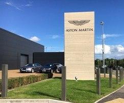 Plain square bollards for Aston Martin