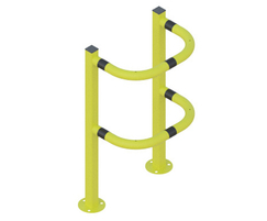 ACP4 Flanged Yellow with black reflective bands
