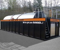 Bunded open top steel hire tank