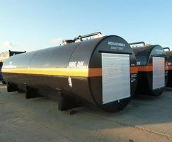 Enclosed bunded steel storage tank