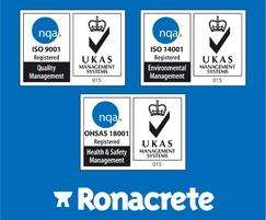 Ronacrete: Ronacrete receives third ISO accreditation: OHSAS 18001