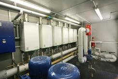 Wall hung condensing boilers