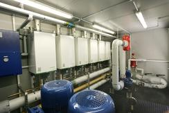 Wall mounted packaged boiler system