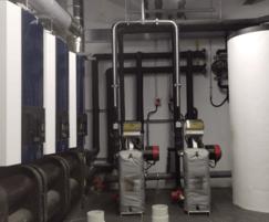 Boiler room with skid-mounted Modupak 330 boiler set