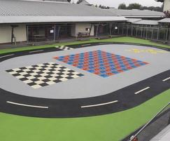 Colourful playground surfacing by RTC Safety Surfaces