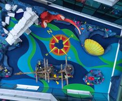 Disney themed wet pour surfacing Great Ormond Street