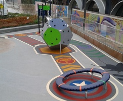 The safer surfacing has a Marvel Avengers theme