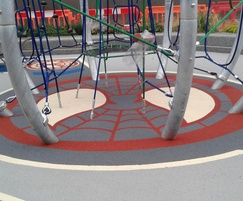Surfacing was installed around existing play equipment