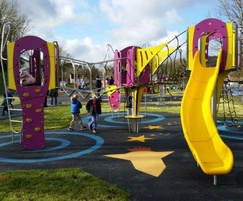 Space-themed safer surfacing for community centre play
