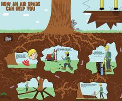 Air spades root investigation applications