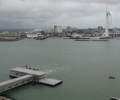 Roof edge protection solution – Portsmouth harbour