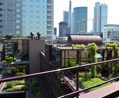 Powder-coated KeeGuard® roof guardrail