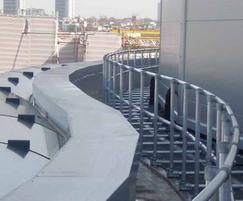 Curved KeeGuard® roof edge protection