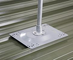Fall protection for metal profile roofs