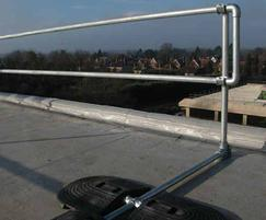 Guardrail on a rooftop