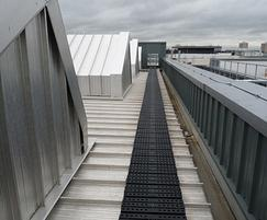 Demarcated route for roofs