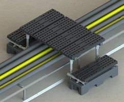 Kee Walk® rooftop safety ladder example