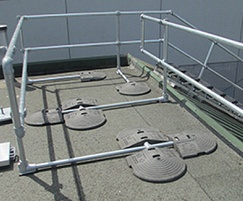 KeeGuard® rooftop edge protection railing system