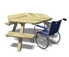 Wheelchair Accessible Access Picnic Table Schoolscapes ESI - Wheelchair picnic table