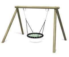 Eagle Nest Swing with timber frame